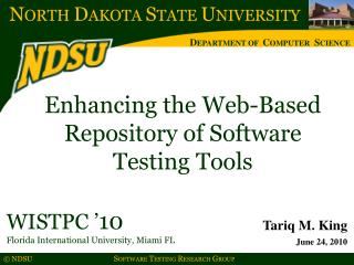 Enhancing the Web-Based Repository of Software  Testing Tools