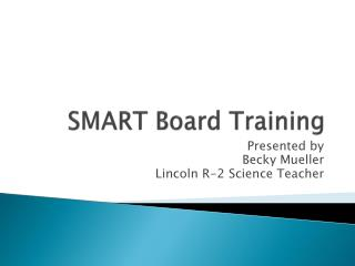 SMART Board Training