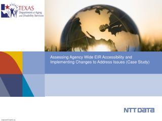 Assessing Agency Wide EIR Accessibility and Implementing Changes to Address Issues (Case Study)