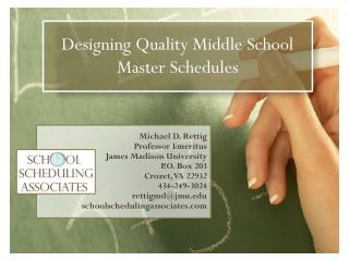 Designing Quality Middle School Master  Schedules