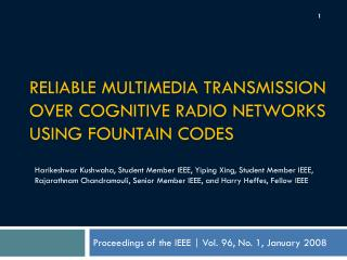 Reliable Multimedia Transmission over Cognitive Radio Networks Using Fountain Codes