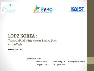 LOD2 KOREA : Towards  Publishing Korean  Linked  Data  on  the  Web