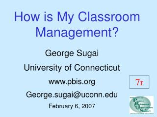 How is My Classroom Management