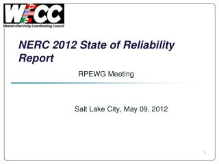 NERC 2012 State of Reliability Report