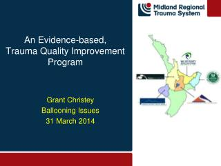 An Evidence-based,  T rauma  Quality Improvement Program
