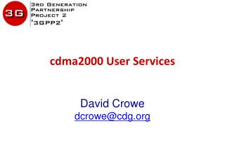 cdma2000  User Services