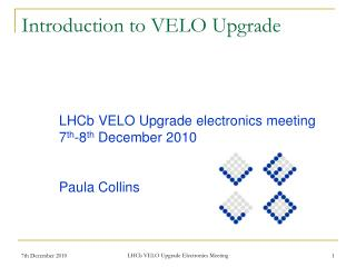 Introduction to VELO Upgrade