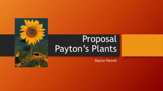 Proposal Payton's Plants