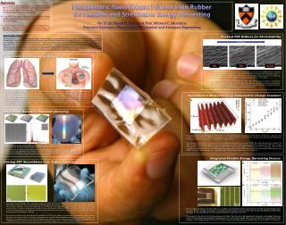 Piezoelectric  Nanoribbons  Printed  o nto Rubber f or Flexible and Stretchable Energy Harvesting