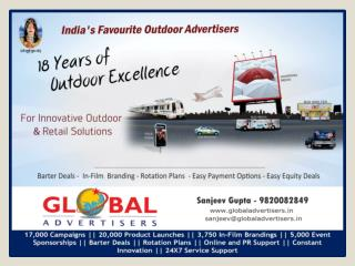Outdoor Promotion Through Bus Shelter for Garments at Malad