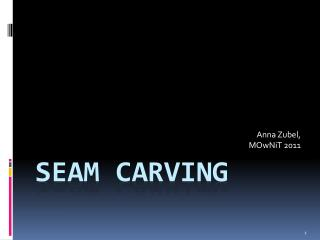 SEAM CARVING