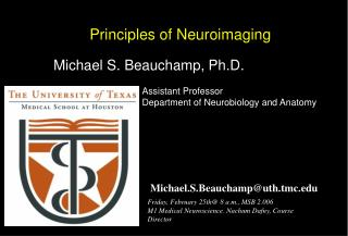 Principles of Neuroimaging