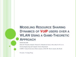 Modeling Resource Sharing Dynamics of  VoIP  users over a WLAN Using a Game-Theoretic Approach