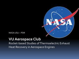 NASA USLI – PDR