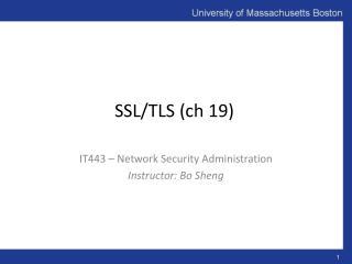 SSL/TLS (ch 19)