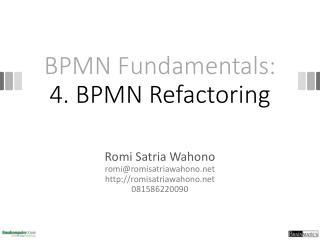 BPMN Fundamentals: 4. BPMN Refactoring