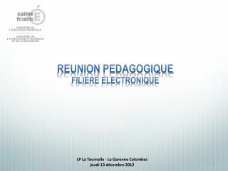 LP La Tournelle - La Garenne Colombes jeudi 13 décembre 2012