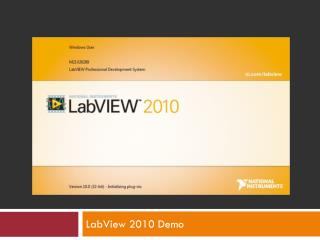 LabView 2010 Demo