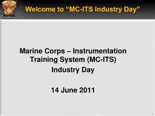 "Welcome to ""MC-ITS Industry Day"""