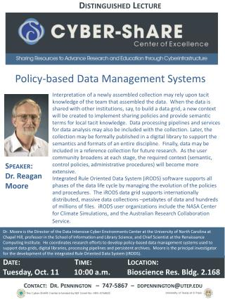 Policy-based Data Management Systems