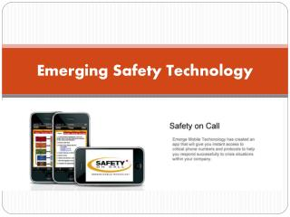 Emerging Safety Technology