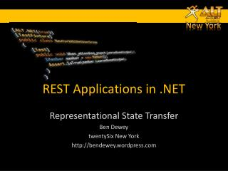 REST Applications in .NET