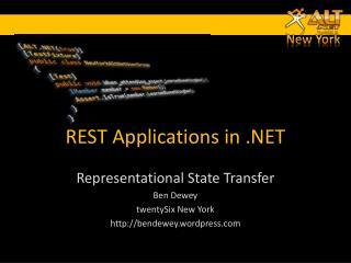 REST Applications in .NET