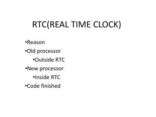 RTC(REAL TIME CLOCK)