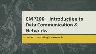 CMP206 – Introduction to Data Communication & Networks
