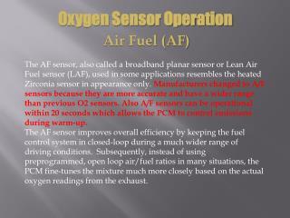 Oxygen Sensor Operation Air Fuel (AF)