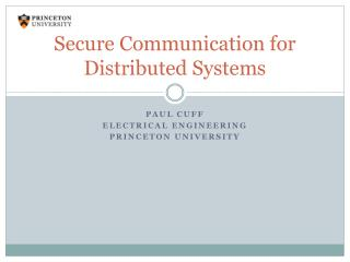 Secure Communication for Distributed Systems