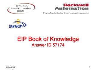 EIP Book of Knowledge Answer ID 57174