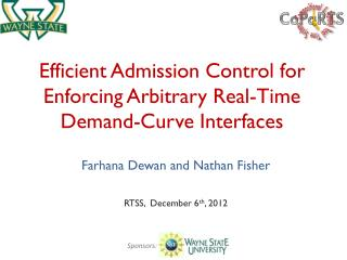 Efficient Admission Control for Enforcing Arbitrary Real-Time Demand-Curve Interfaces