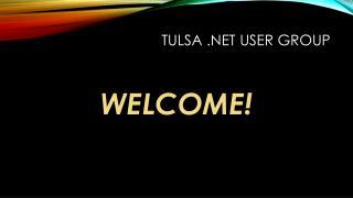 Tulsa .NET User group