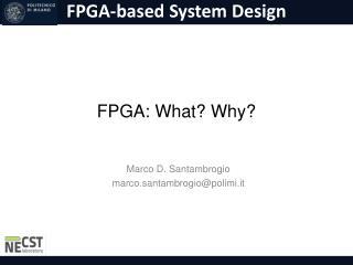 FPGA:  What ?  Why ?