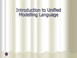 Introduction to Unified  Modelling  Language