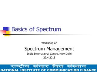 Basics of Spectrum