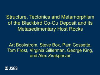 Structure, Tectonics and Metamorphism o f the Blackbird Co-Cu Deposit and its
