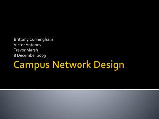 Campus Network Design