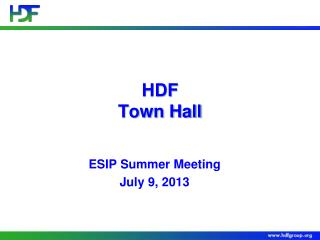 HDF Town Hall