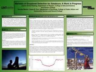 Methods  of Exoplanet Detection for Amateurs: A Work in Progress