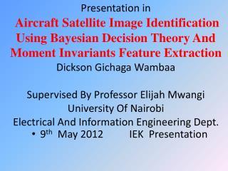 9 th   May 2012          IEK  Presentation