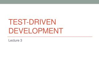 Test - DRIVEN DEVELOPMENT