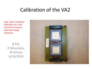 Calibration of the VA2