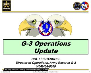 G-3 Operations  Update