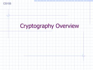 Cryptography Overview