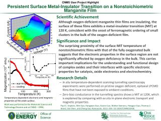 Persistent  Surface Metal-Insulator Transition on a Nonstoichiometric Manganite Film