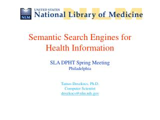 Semantic Search Engines for Health Information