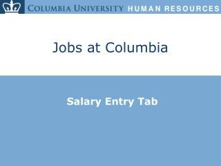 Jobs at Columbia