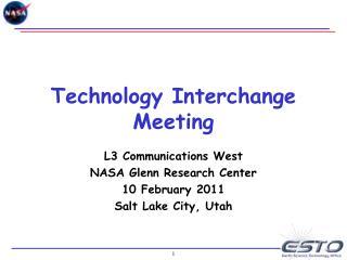 Technology Interchange Meeting